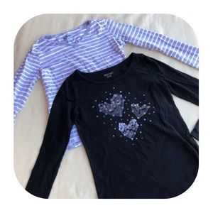 6/$15 10/12 L Old Navy & Cherokee shirts